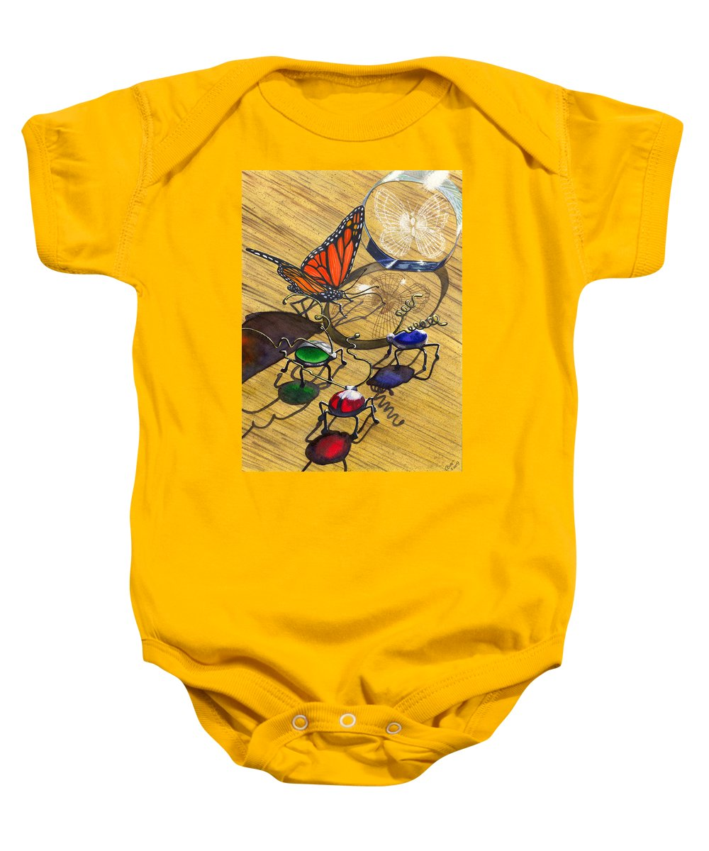 Bug Baby Onesie featuring the painting Deception by Catherine G McElroy