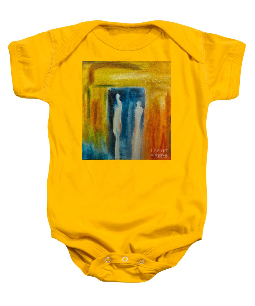 Mixed Media Baby Onesie featuring the mixed media Decision by Dragica Micki Fortuna