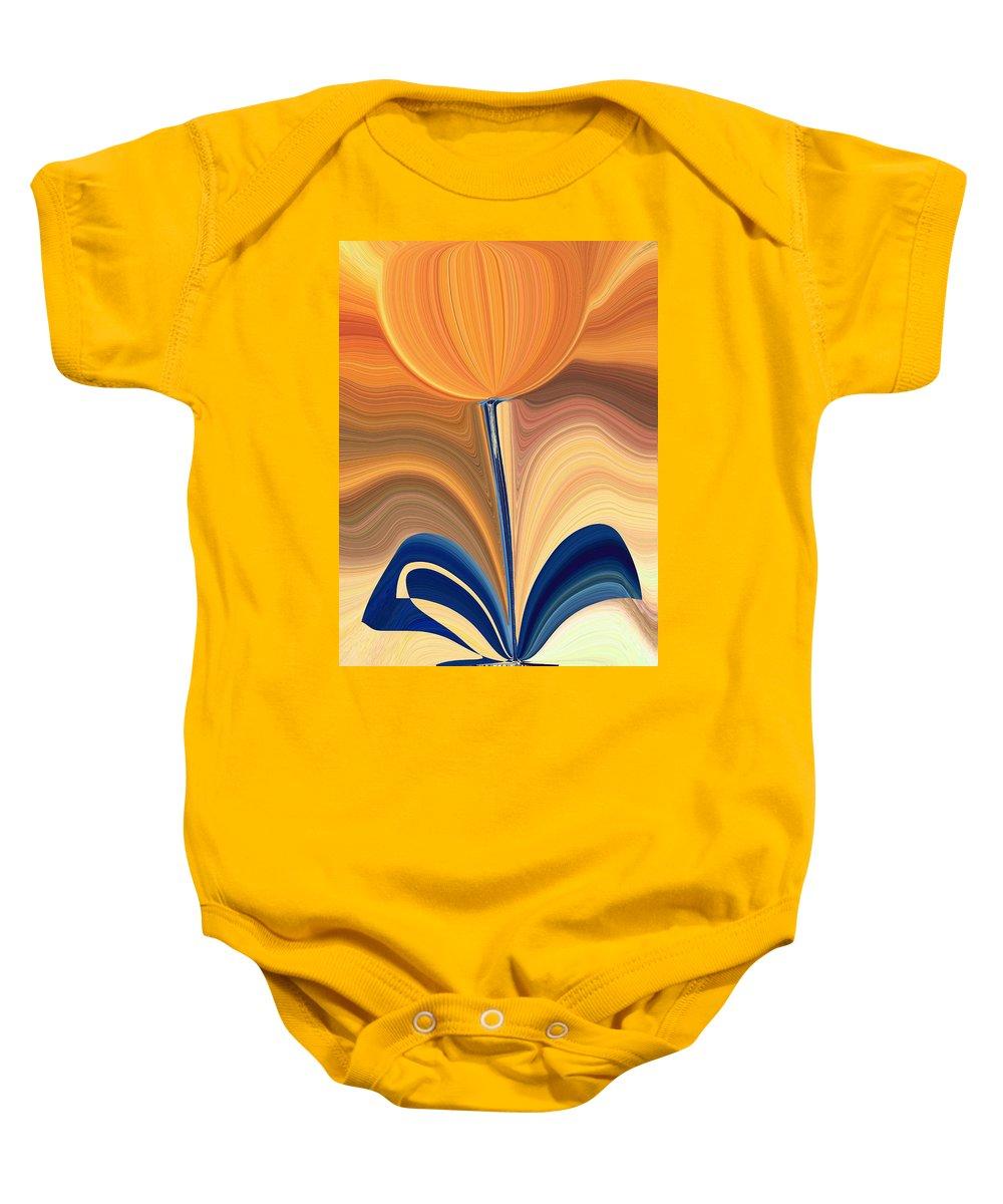 Bloom Baby Onesie featuring the digital art Delighted by Tim Allen