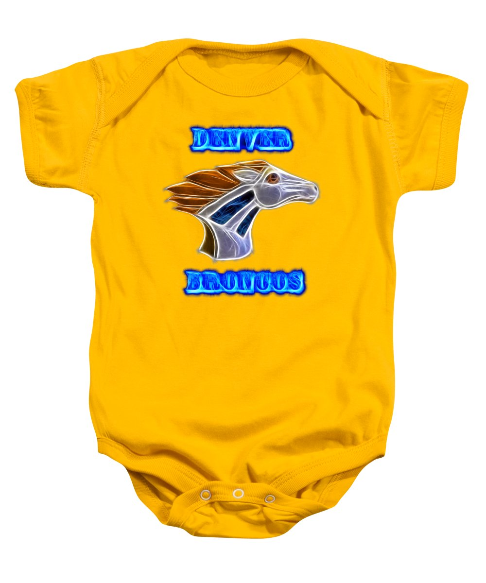 Broncos Baby Onesie featuring the photograph Denver Broncos 2 by Shane Bechler