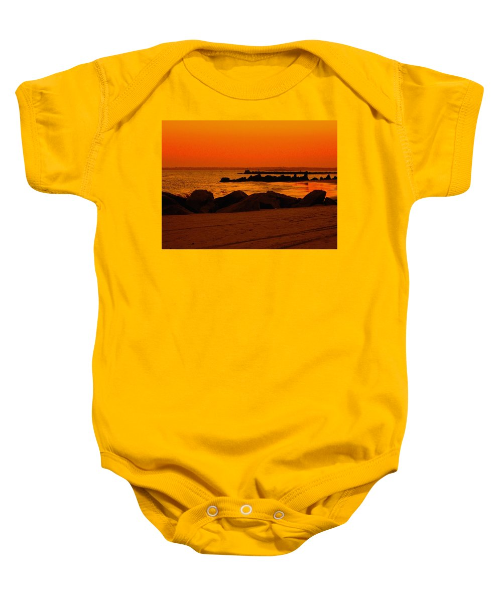 Landscape Baby Onesie featuring the photograph Desert Skies by Kendall Eutemey