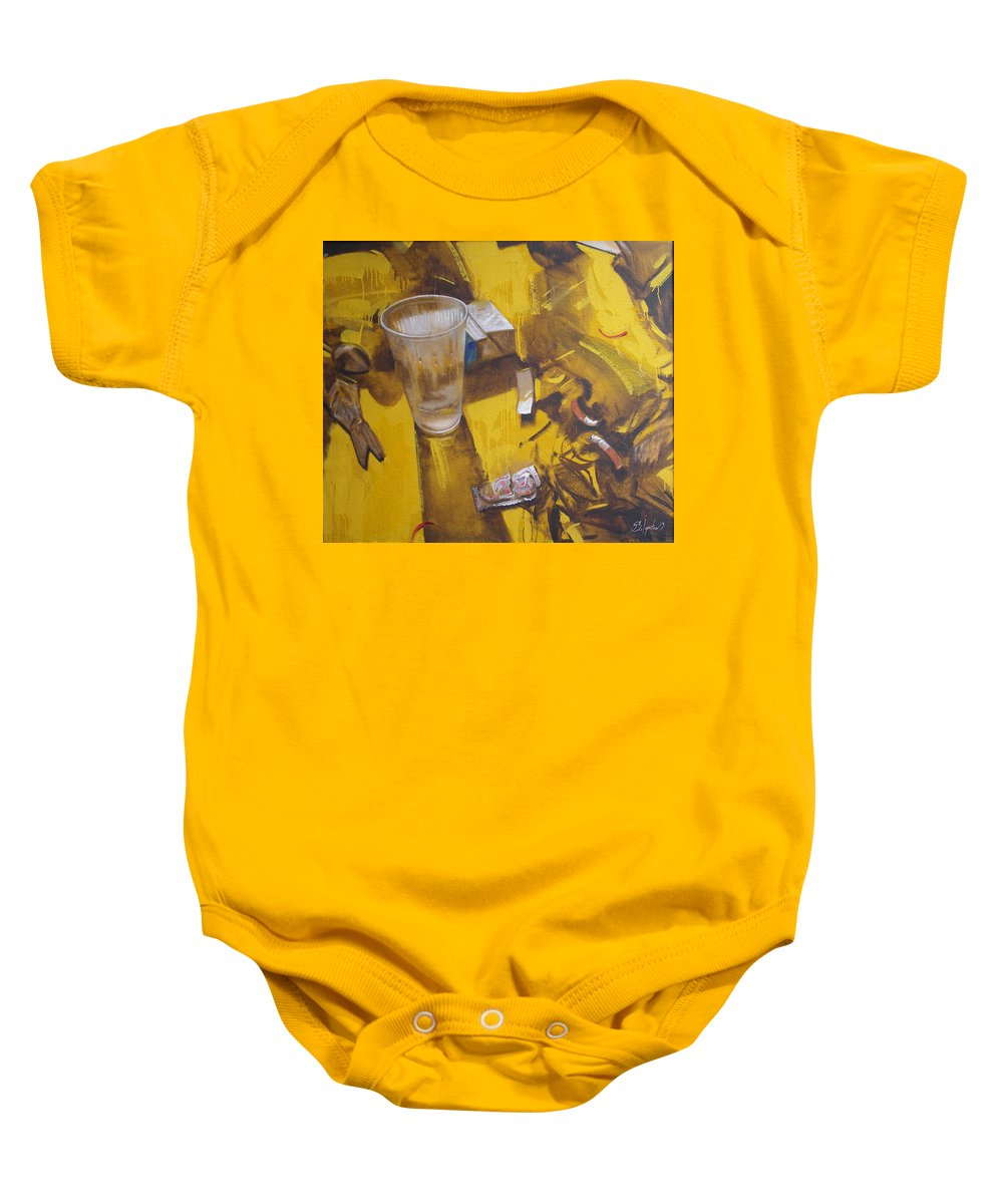 Disposable Baby Onesie featuring the painting Disposable by Sergey Ignatenko