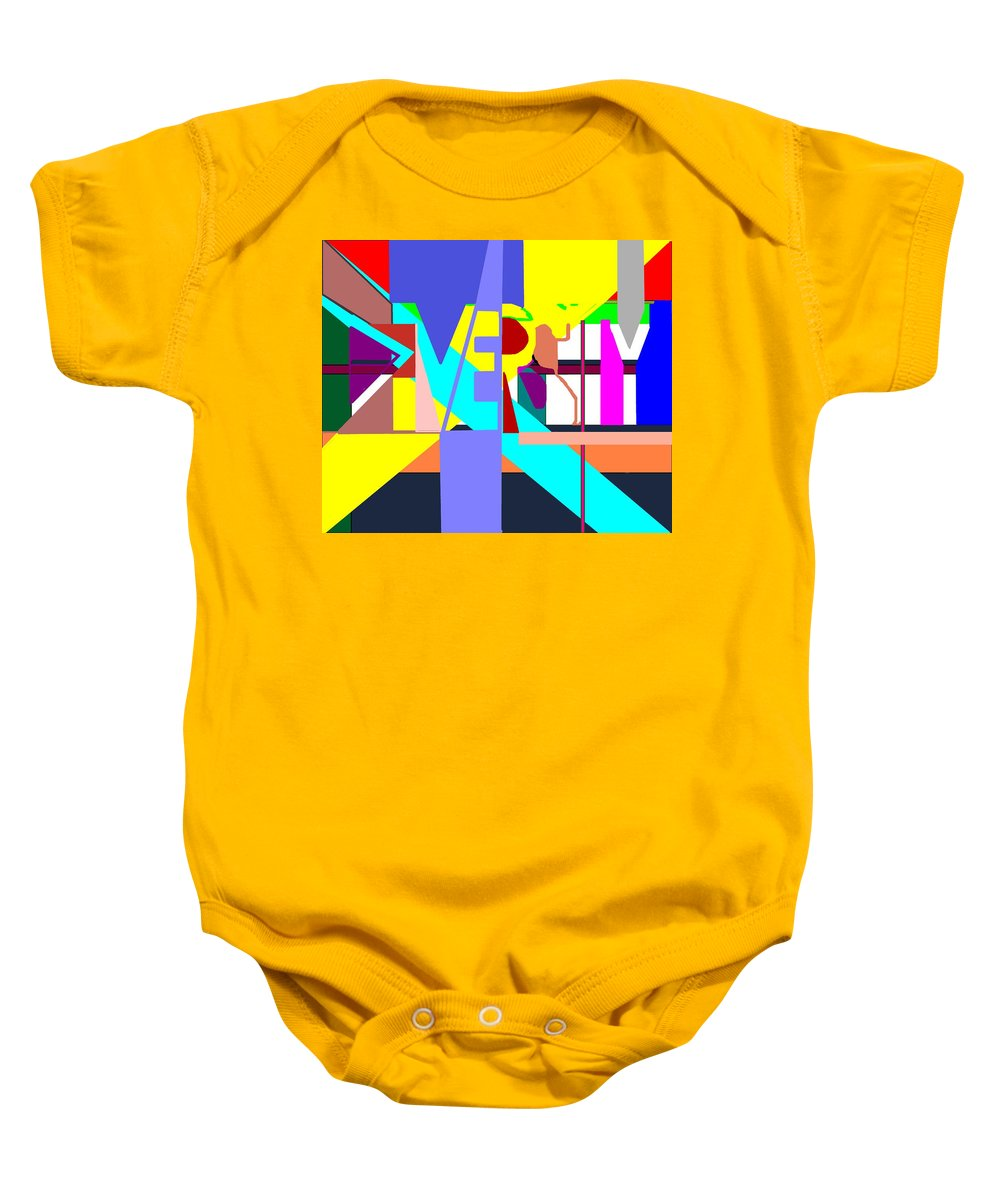 Diversity Baby Onesie featuring the digital art Diversity Enmeshed by Pharris Art