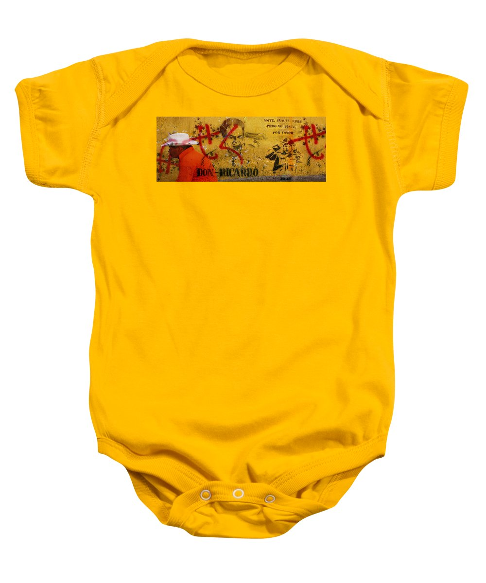 Grafitti Baby Onesie featuring the photograph Don-ricardo by Skip Hunt