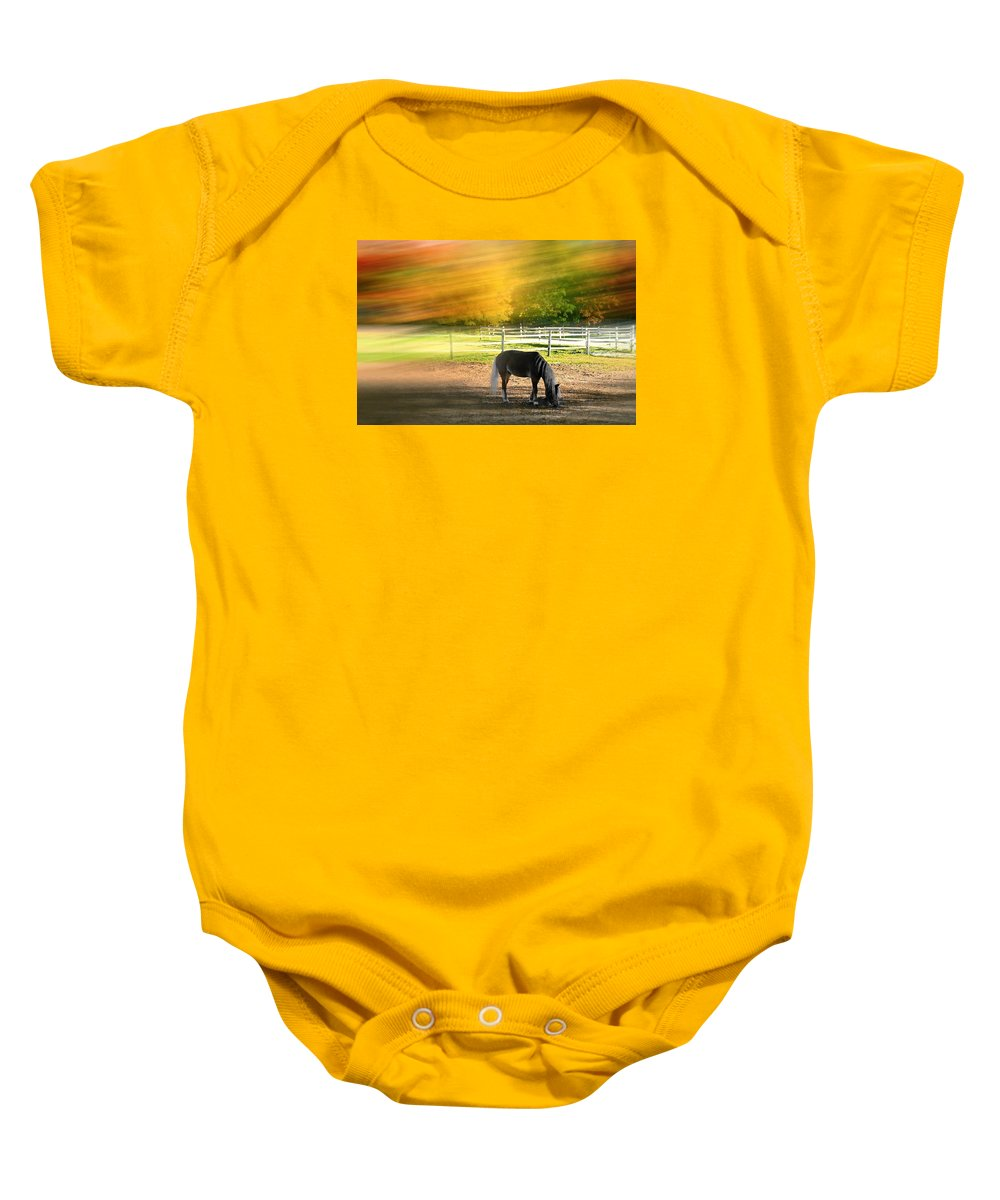 Farm Baby Onesie featuring the photograph It's Where You Find It by Diana Angstadt