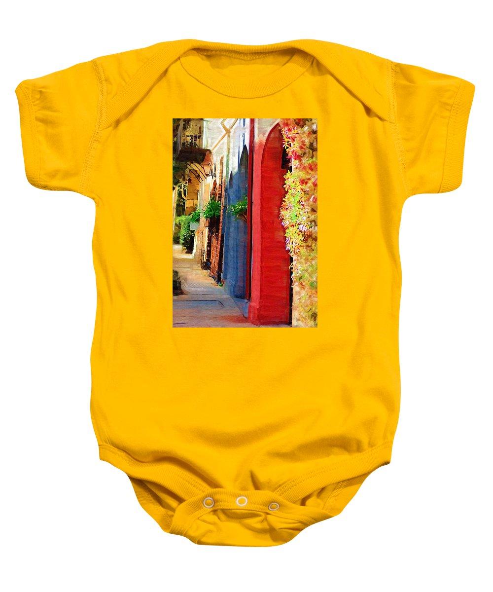 Door Baby Onesie featuring the photograph Doorways On Queen Street by Donna Bentley