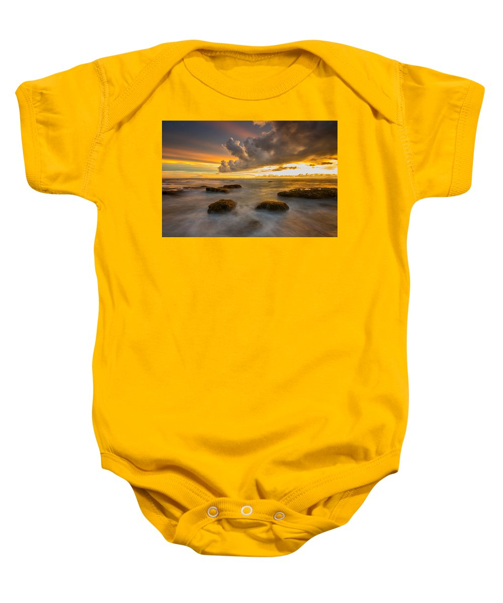 Sunset Baby Onesie featuring the photograph Dramatic by Dikky Oesin