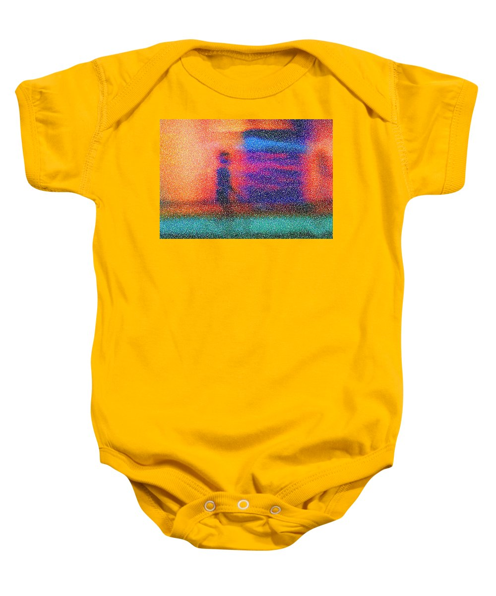 Abstract Baby Onesie featuring the painting Dream Stroll II by Stephen Anderson