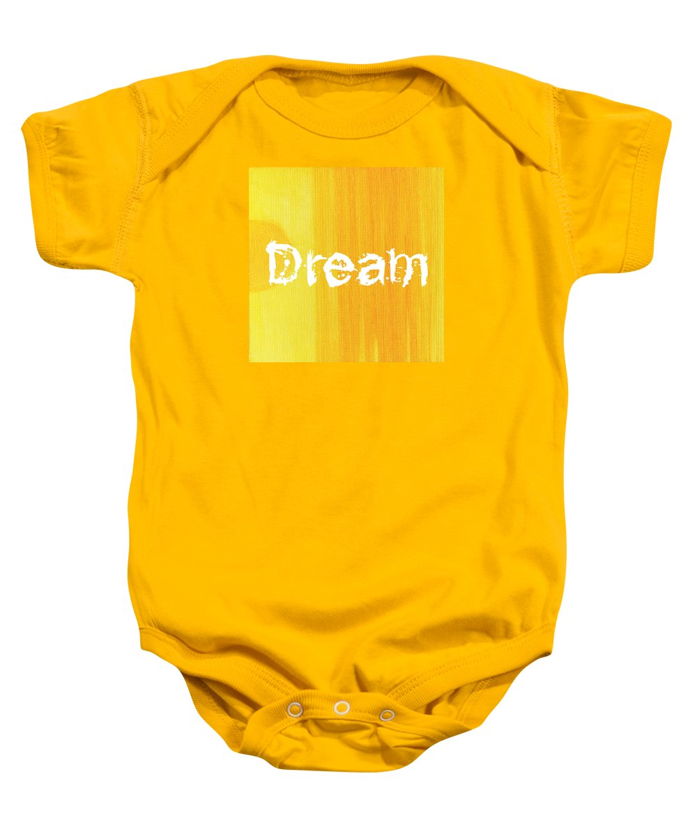 Love Baby Onesie featuring the painting Dream by Kathleen Wong