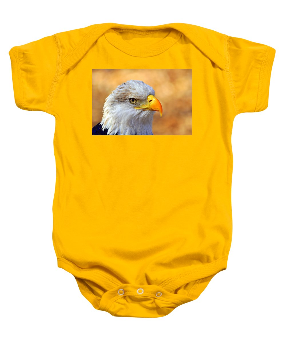 Eagle Baby Onesie featuring the photograph Eagle 7 by Marty Koch