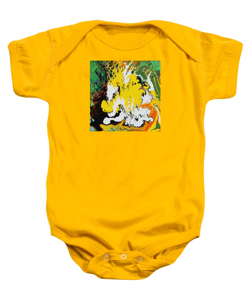 Fusionart Baby Onesie featuring the painting Earth by Ralph White