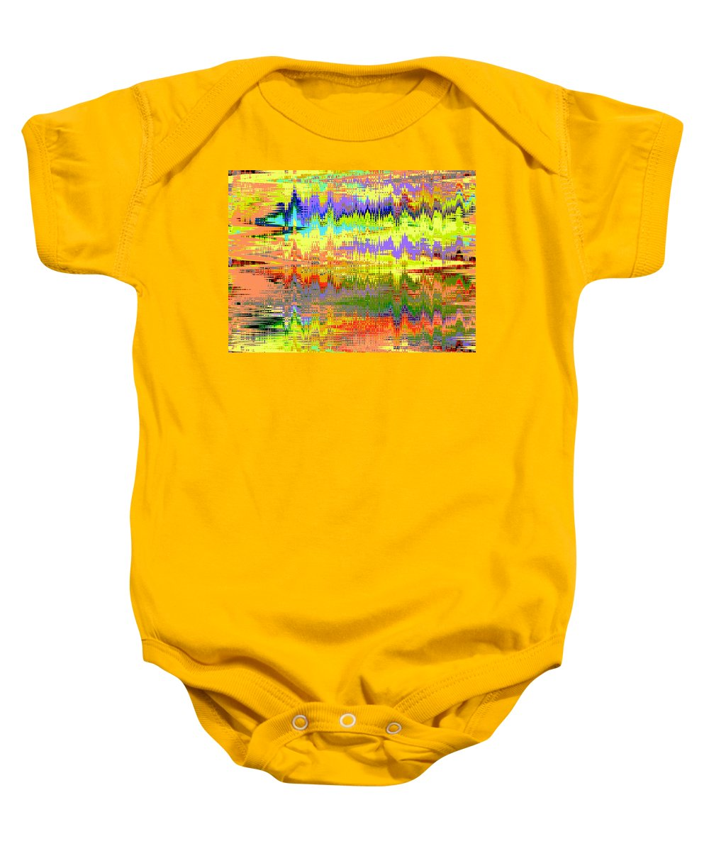 Abstract Baby Onesie featuring the digital art Echocardiogram by Lenore Senior