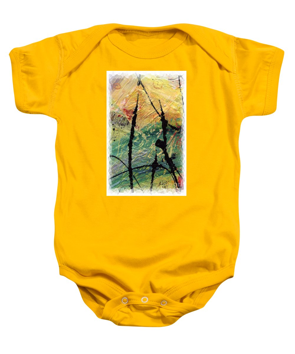 Abstract Baby Onesie featuring the painting Ecstasy II by Angela L Walker