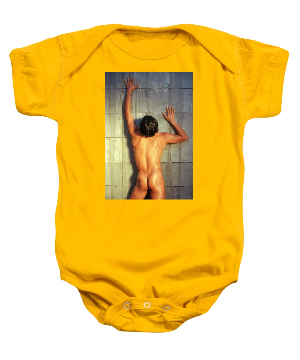 Male Baby Onesie featuring the photograph Eddie M. 1 by Andy Shomock
