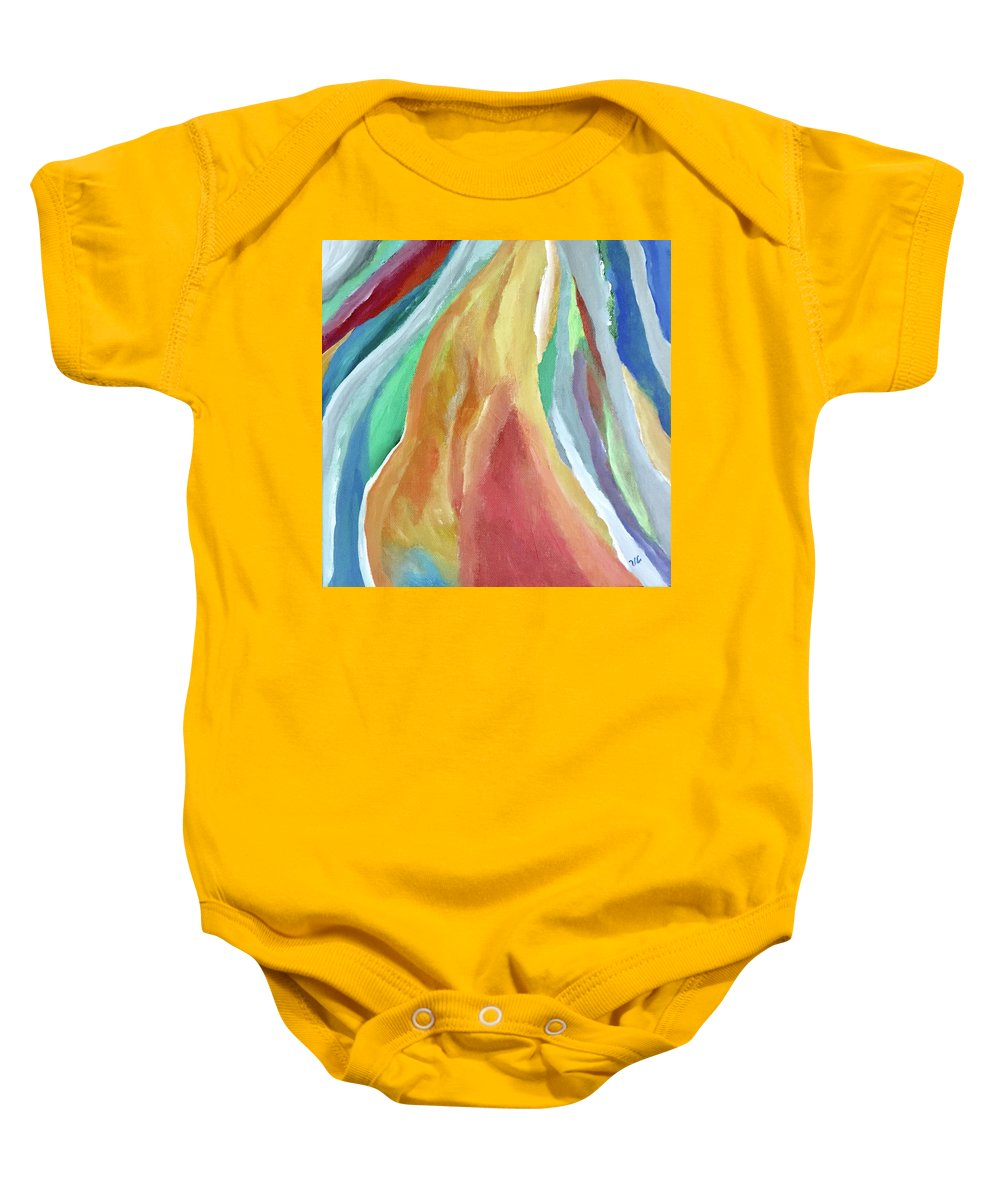 Feminine Baby Onesie featuring the painting Elle by Victoria Lakes