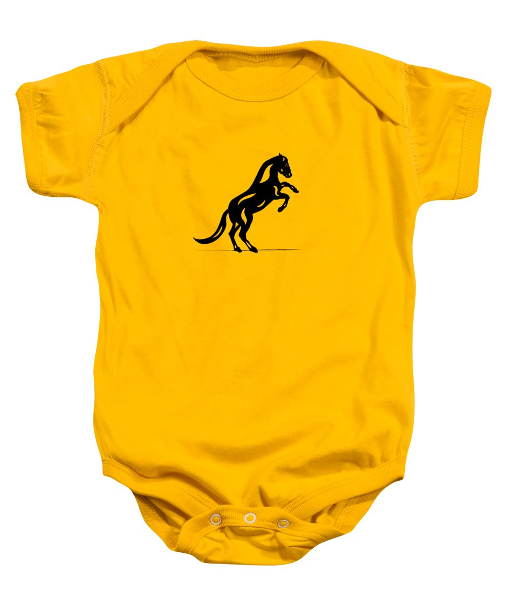 Horse Baby Onesie featuring the painting Emma II - Abstract Horse by Manuel Sueess