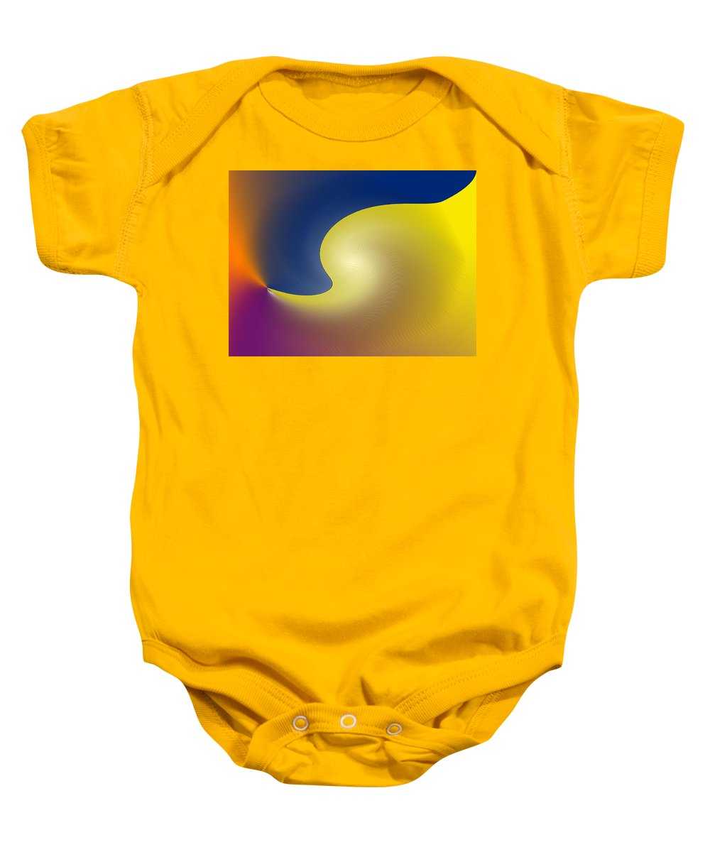 Abstract Baby Onesie featuring the digital art Encroaching by Ian MacDonald