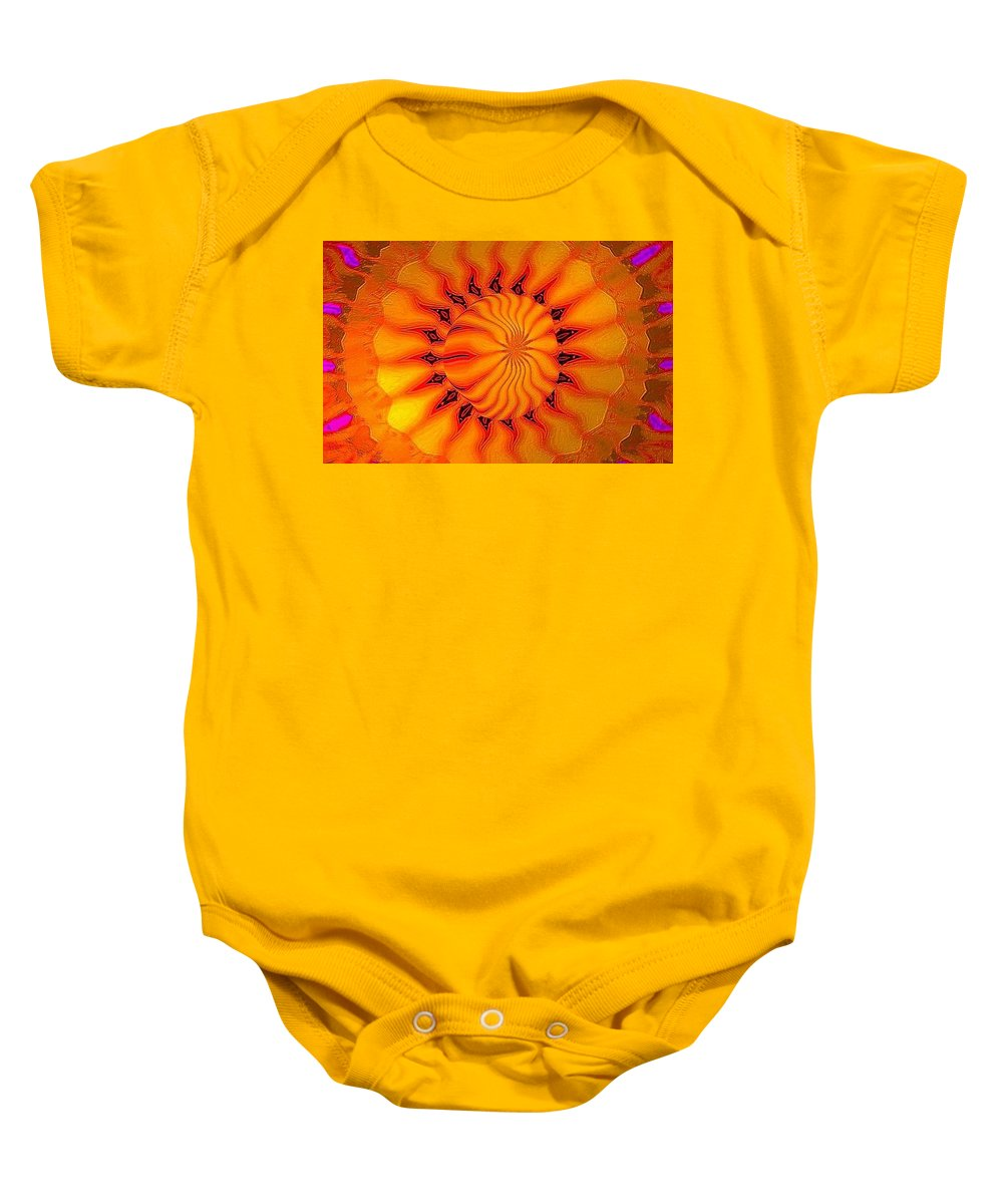 Sun Baby Onesie featuring the digital art Enlighten Me by Robert Orinski