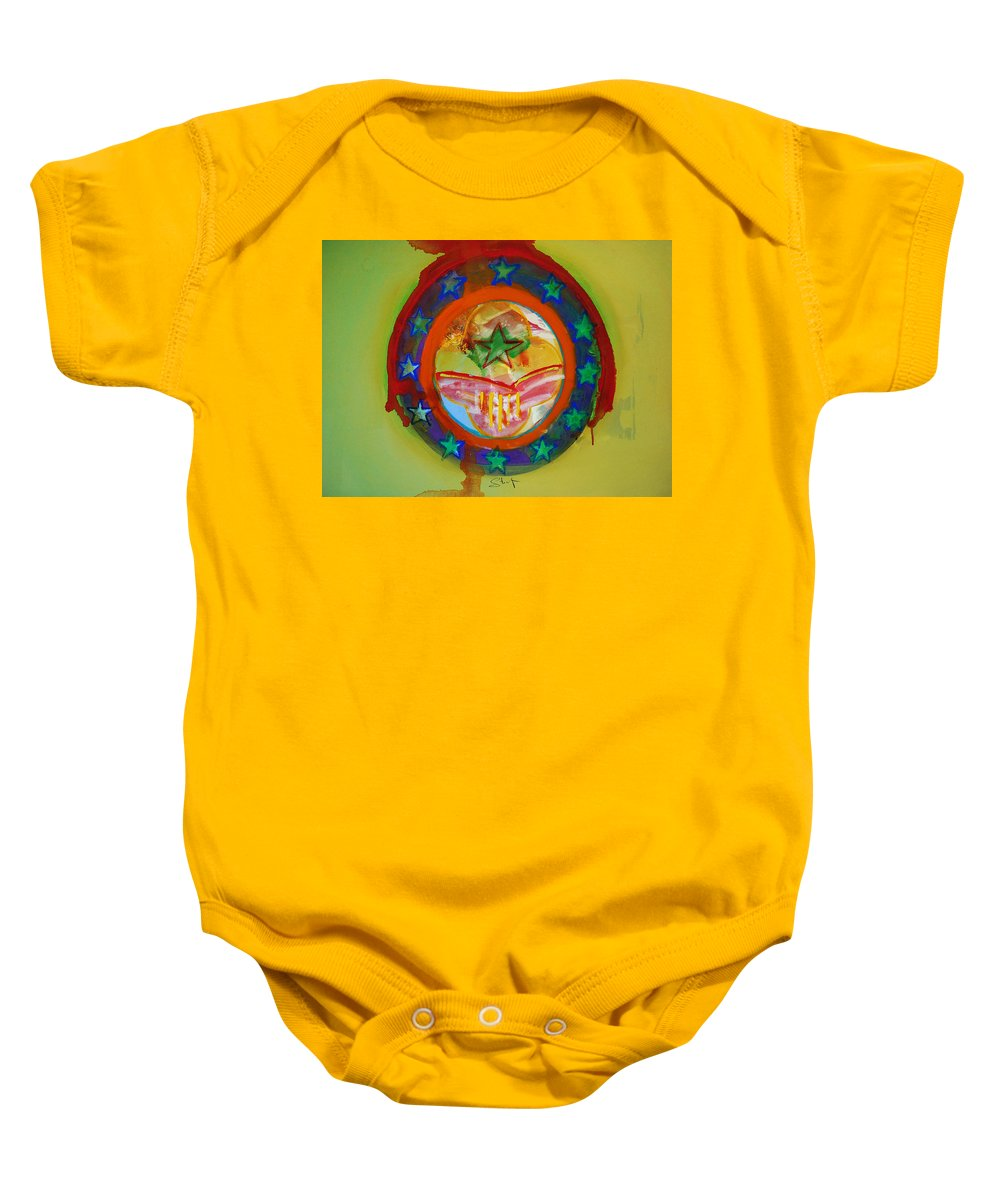 Baby Onesie featuring the painting European Union by Charles Stuart