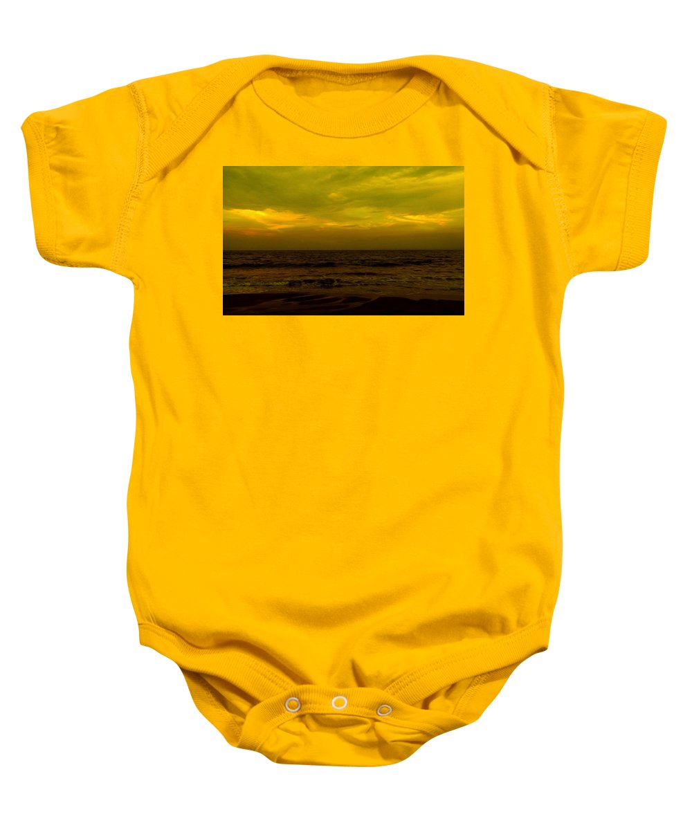 Beach Baby Onesie featuring the photograph Evening's Contemplation by Kendall Eutemey