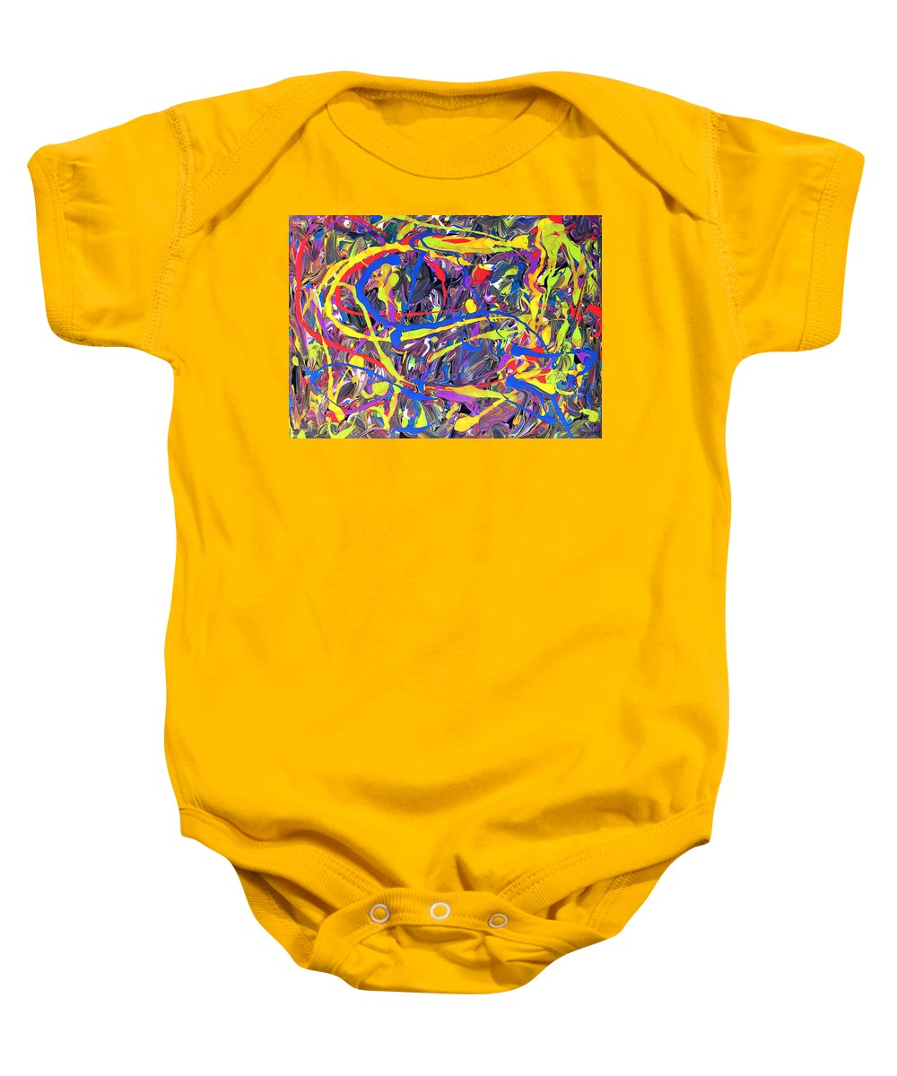 Pollock Baby Onesie featuring the painting Expression 6 by Patrick J Murphy