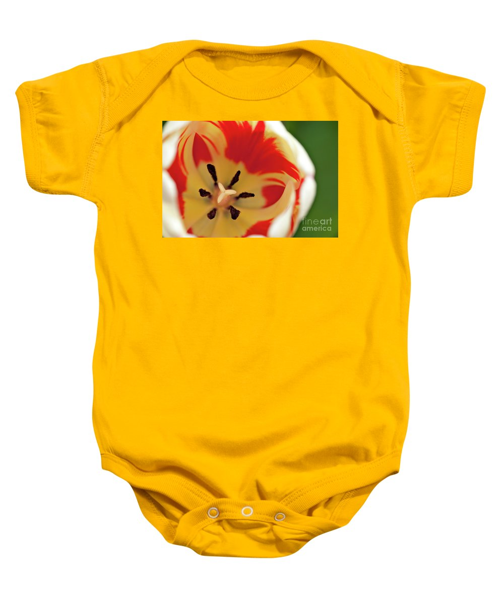 Ball Baby Onesie featuring the photograph F I R E B A L L by Charles Dobbs
