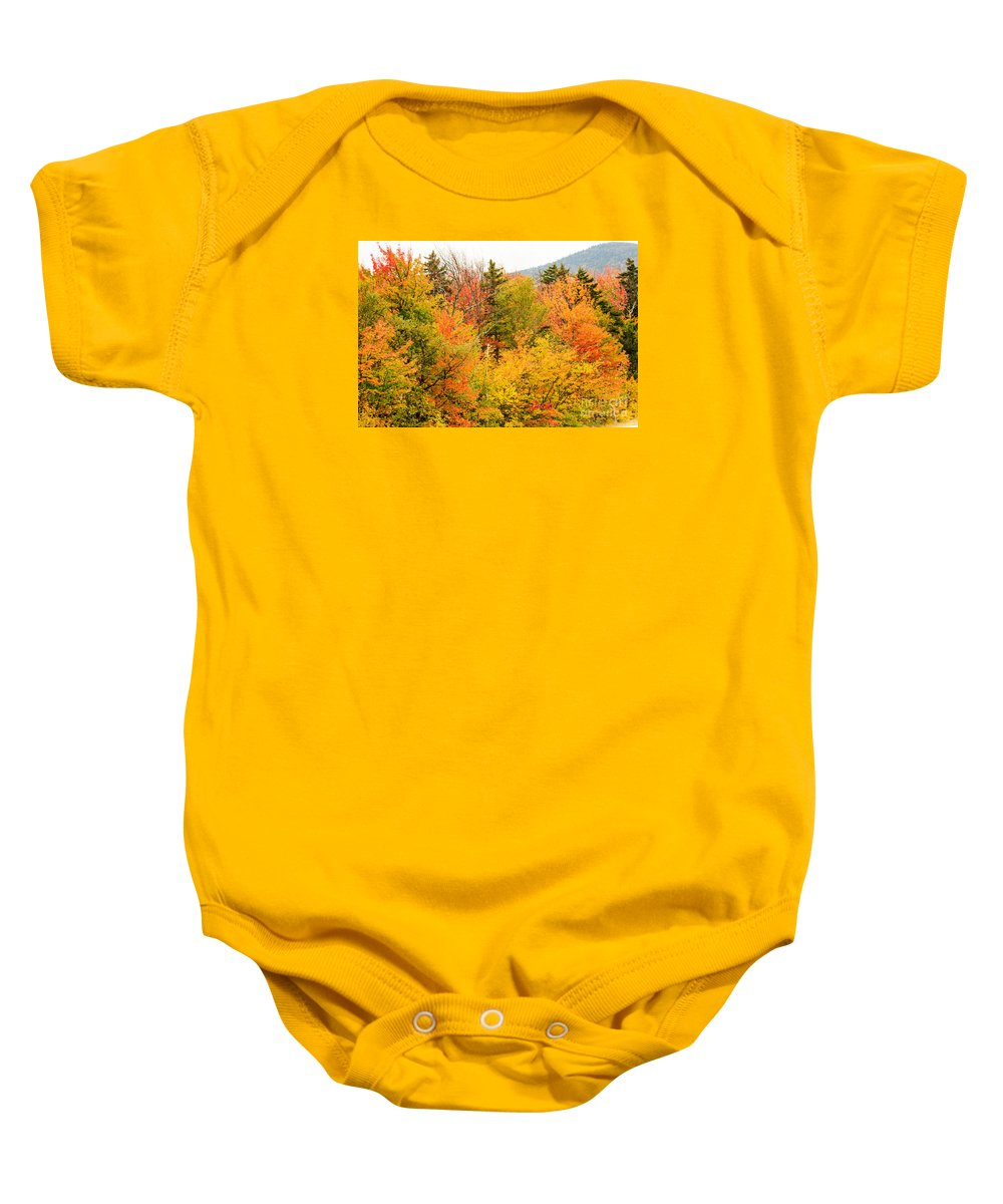 Kanacamangous Highway Baby Onesie featuring the photograph Fall Foliage In The Mountains by Terri Morris