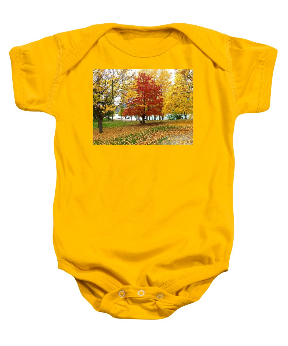 Kaloya Park Baby Onesie featuring the photograph Fall In Kaloya Park 5 by Will Borden