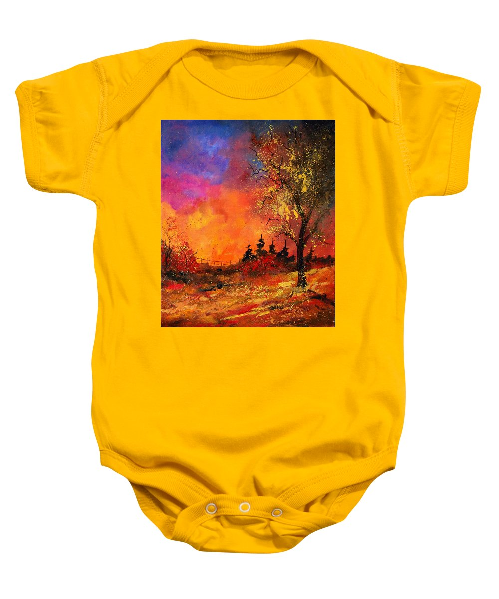 River Baby Onesie featuring the painting Fall by Pol Ledent