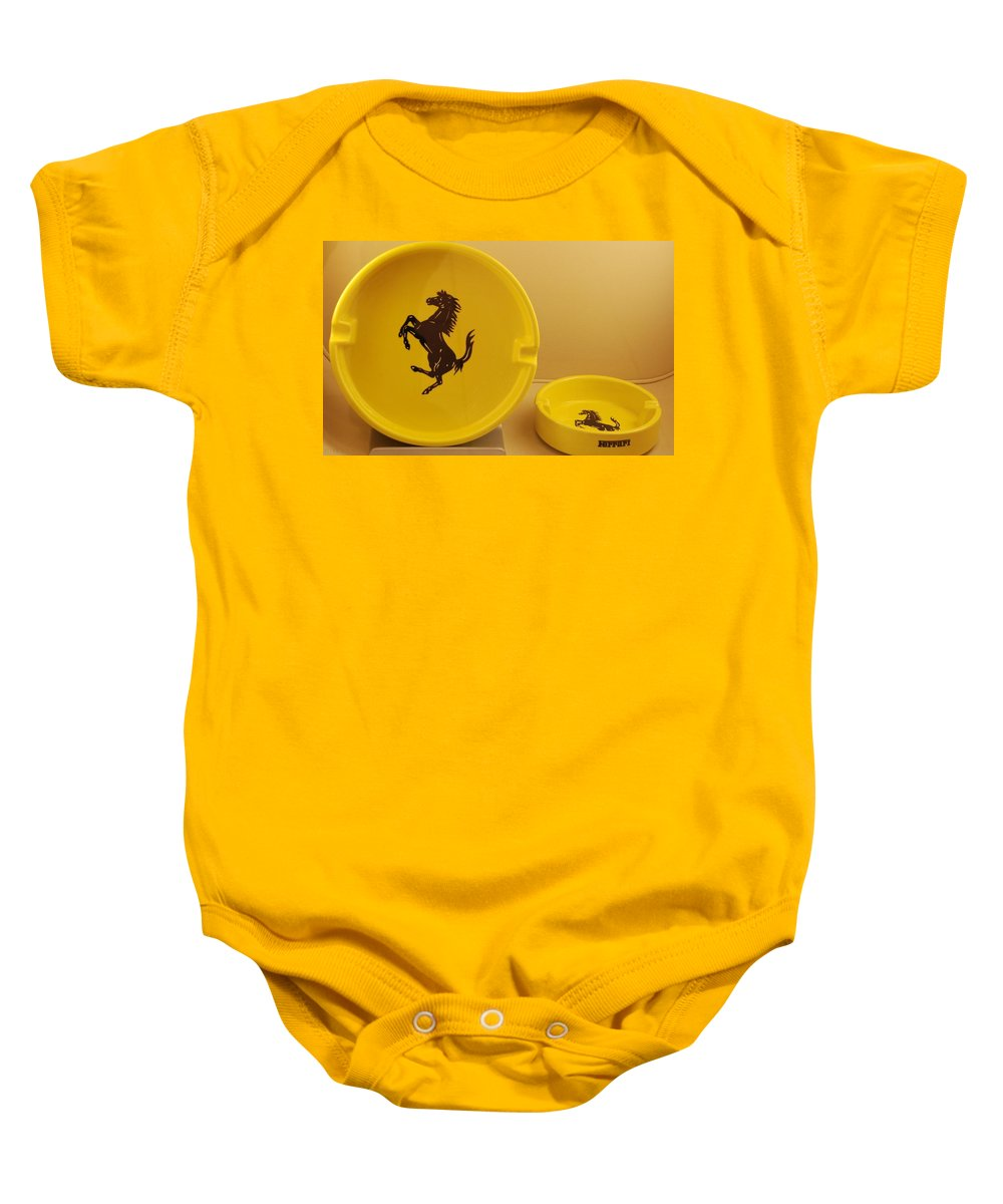 Stallion Baby Onesie featuring the photograph Ferrari Ash Catchers by Rob Hans