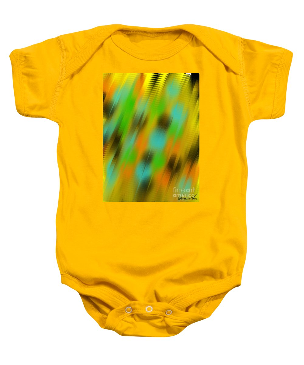 Abstract Baby Onesie featuring the painting Coming Or Going by Frances Ku