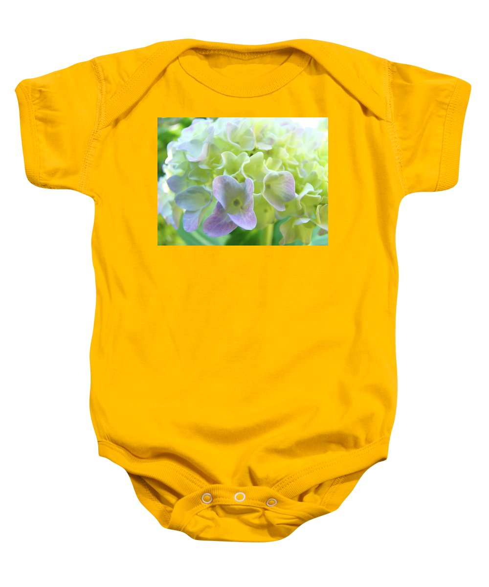 Hydrangea Baby Onesie featuring the photograph Fine Art Prints Hydrangeas Floral Nature Garden Baslee Troutman by Baslee Troutman