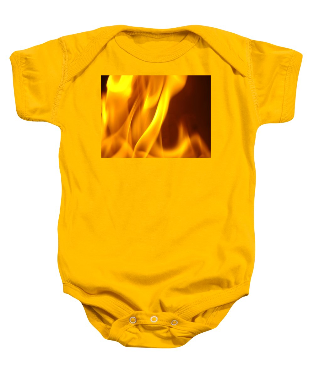 Fire Baby Onesie featuring the photograph Fire Desire Mesmerized San Francisco Autumn Warmth Baslee Troutman by Baslee Troutman