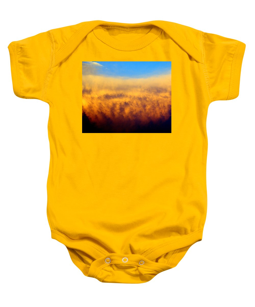 Sunset Photos Baby Onesie featuring the photograph Firey Sunset by Marty Koch