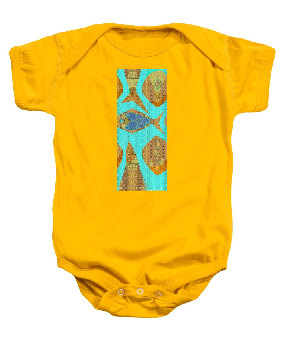 Turquoise Mint Baby Onesie featuring the photograph Fish And Loaves by CR Leyland