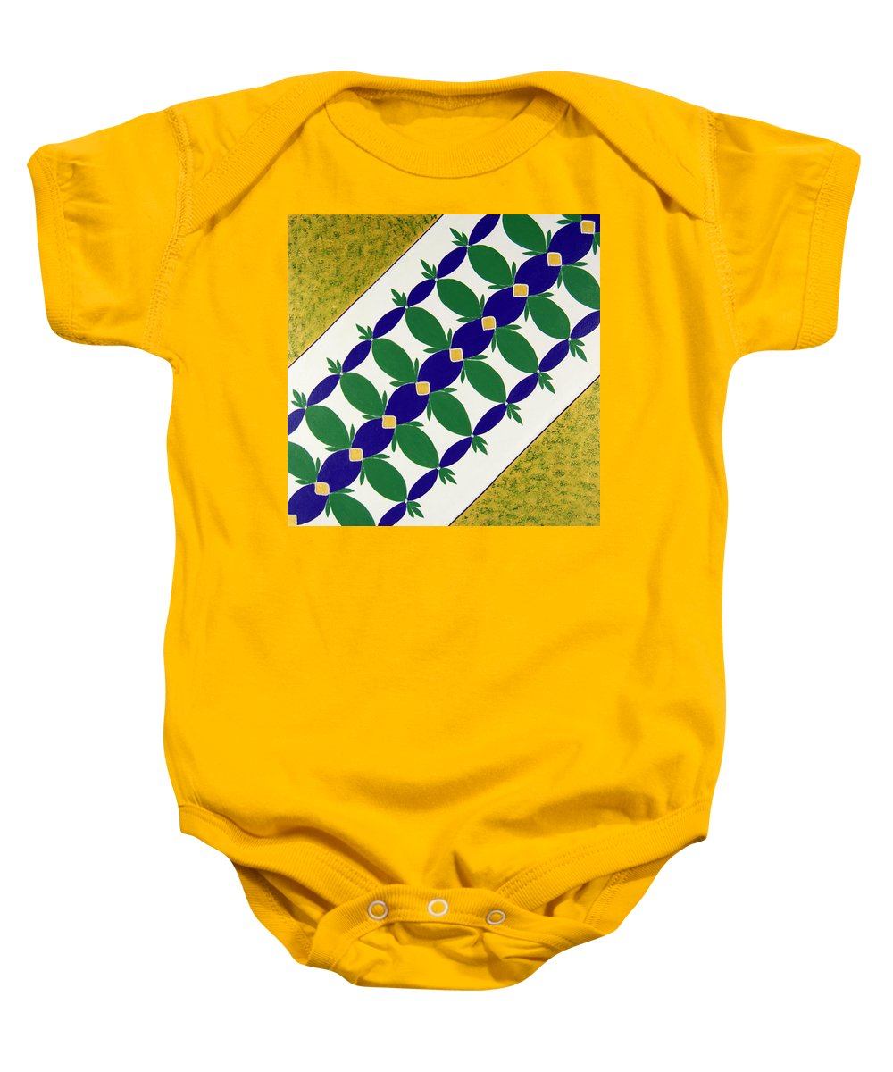 Baby Onesie featuring the painting Flower Bed by Rita Lulay Malsch
