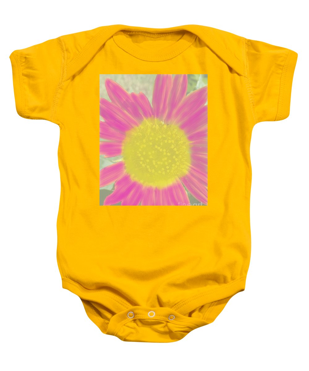 Flower Baby Onesie featuring the digital art Flower Power. by Jake Cook