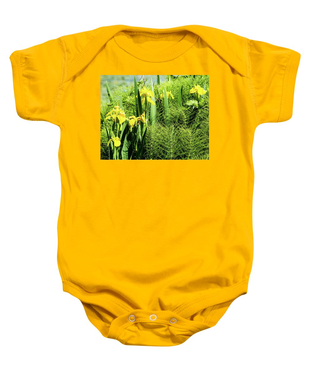 Green Lake Baby Onesie featuring the photograph Flowers At Green Lake by Robert Briggs