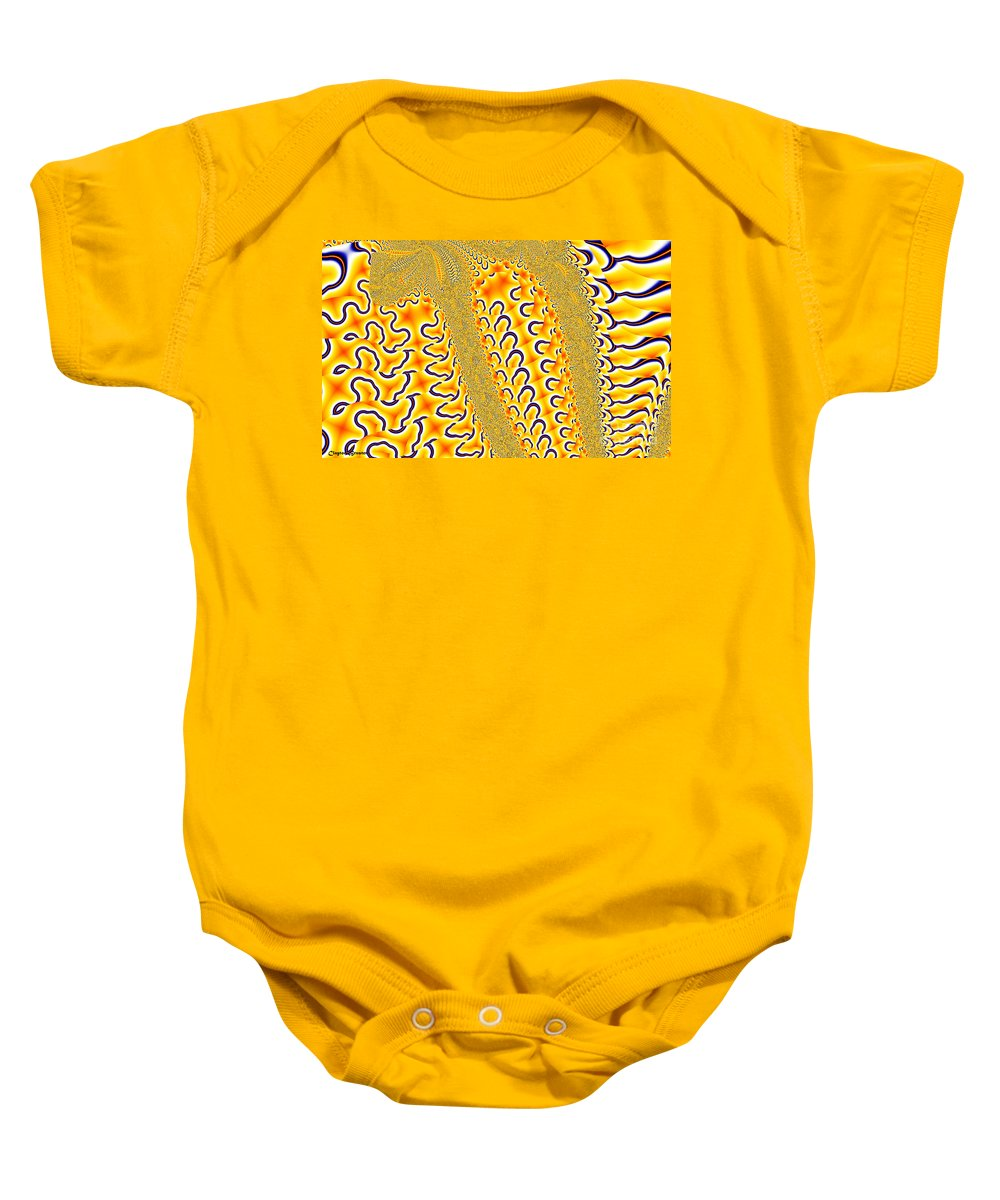 Clay Baby Onesie featuring the digital art Flux by Clayton Bruster