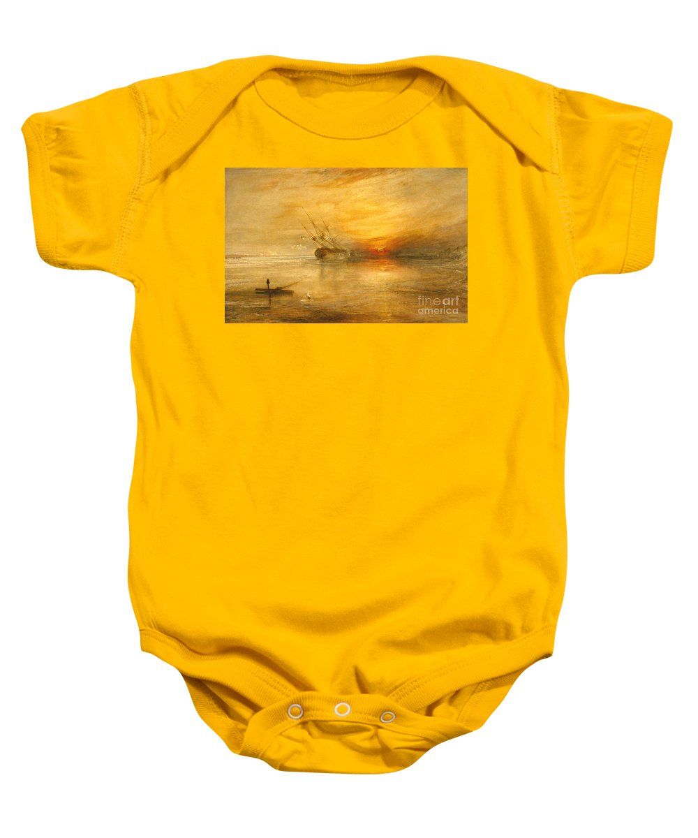 Fort Baby Onesie featuring the painting Fort Vimieux by Joseph Mallord William Turner