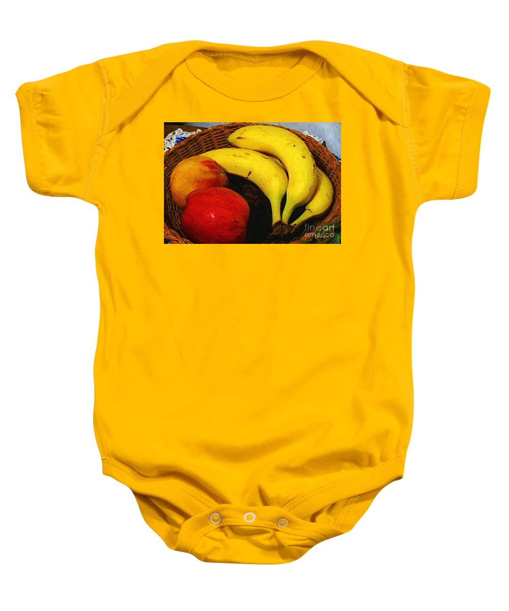 Food Baby Onesie featuring the painting Frutta Rustica by RC DeWinter
