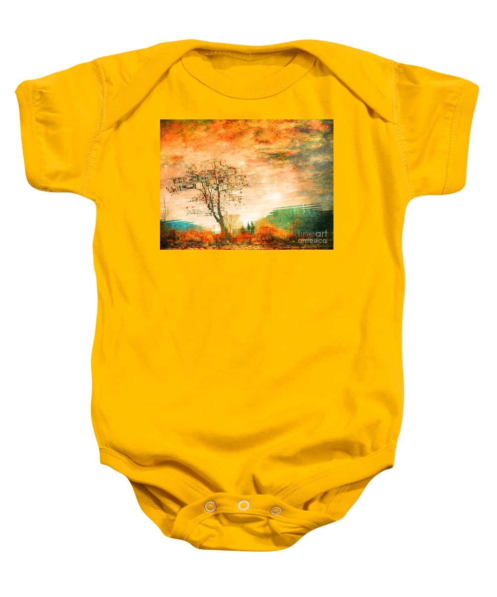 Tree Baby Onesie featuring the photograph Funky Reflections by Tara Turner
