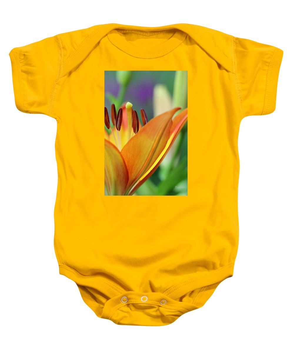 Flower Baby Onesie featuring the photograph Garden Delight by Deborah Crew-Johnson