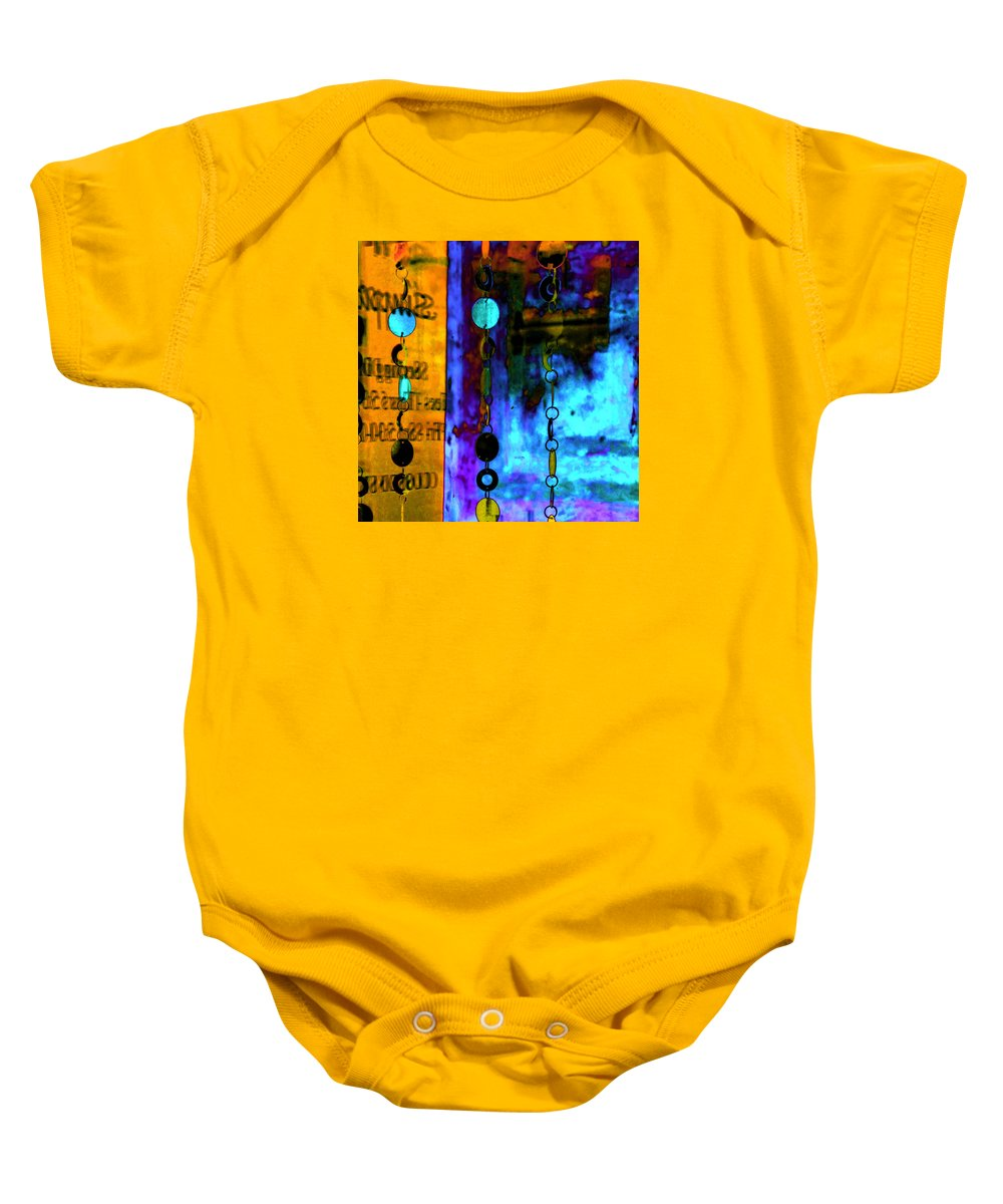 Abstract Baby Onesie featuring the photograph Genisis 1 by Deb Cohen