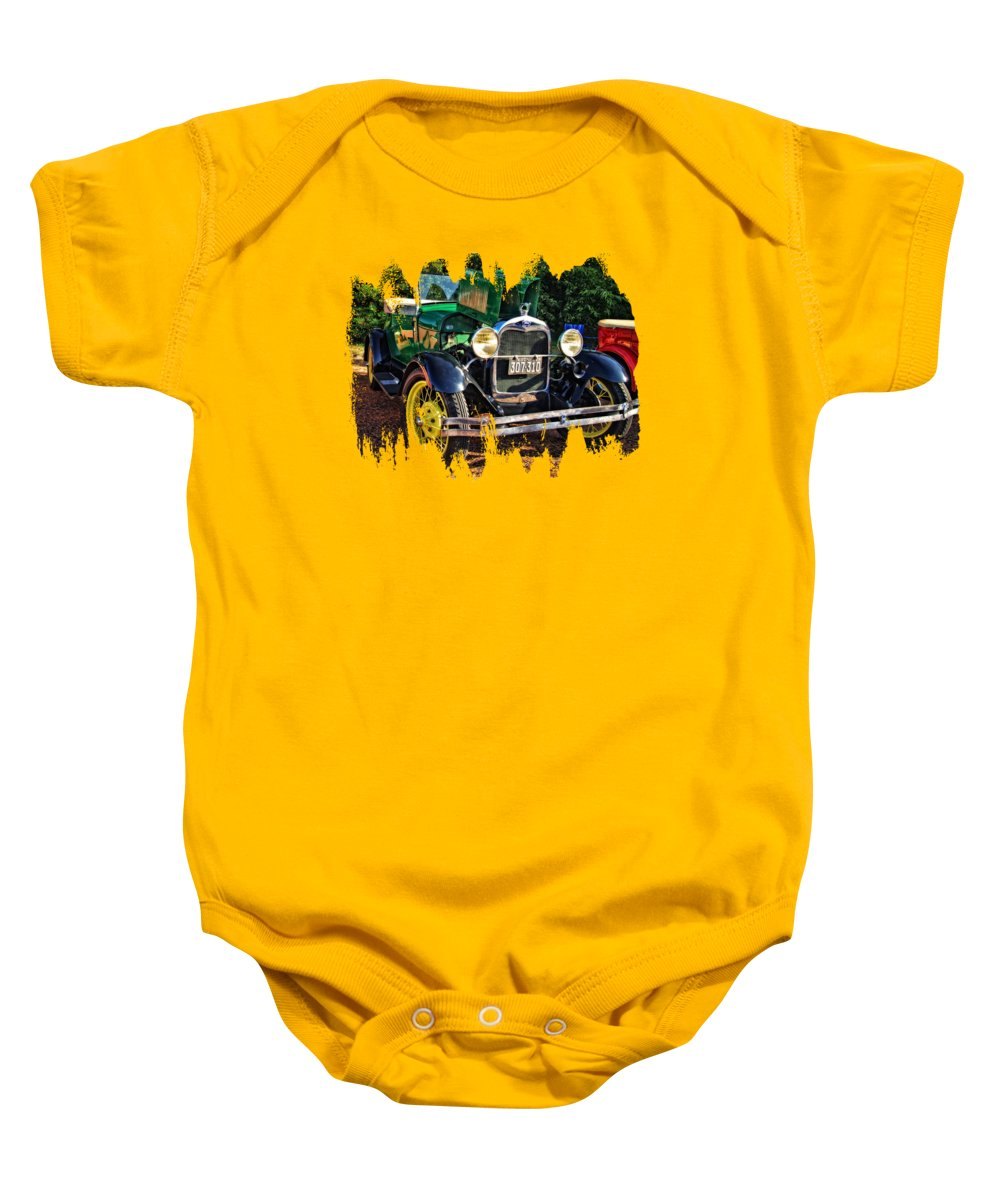 Ford Baby Onesie featuring the photograph Gettin' Ready To Cruise by Thom Zehrfeld