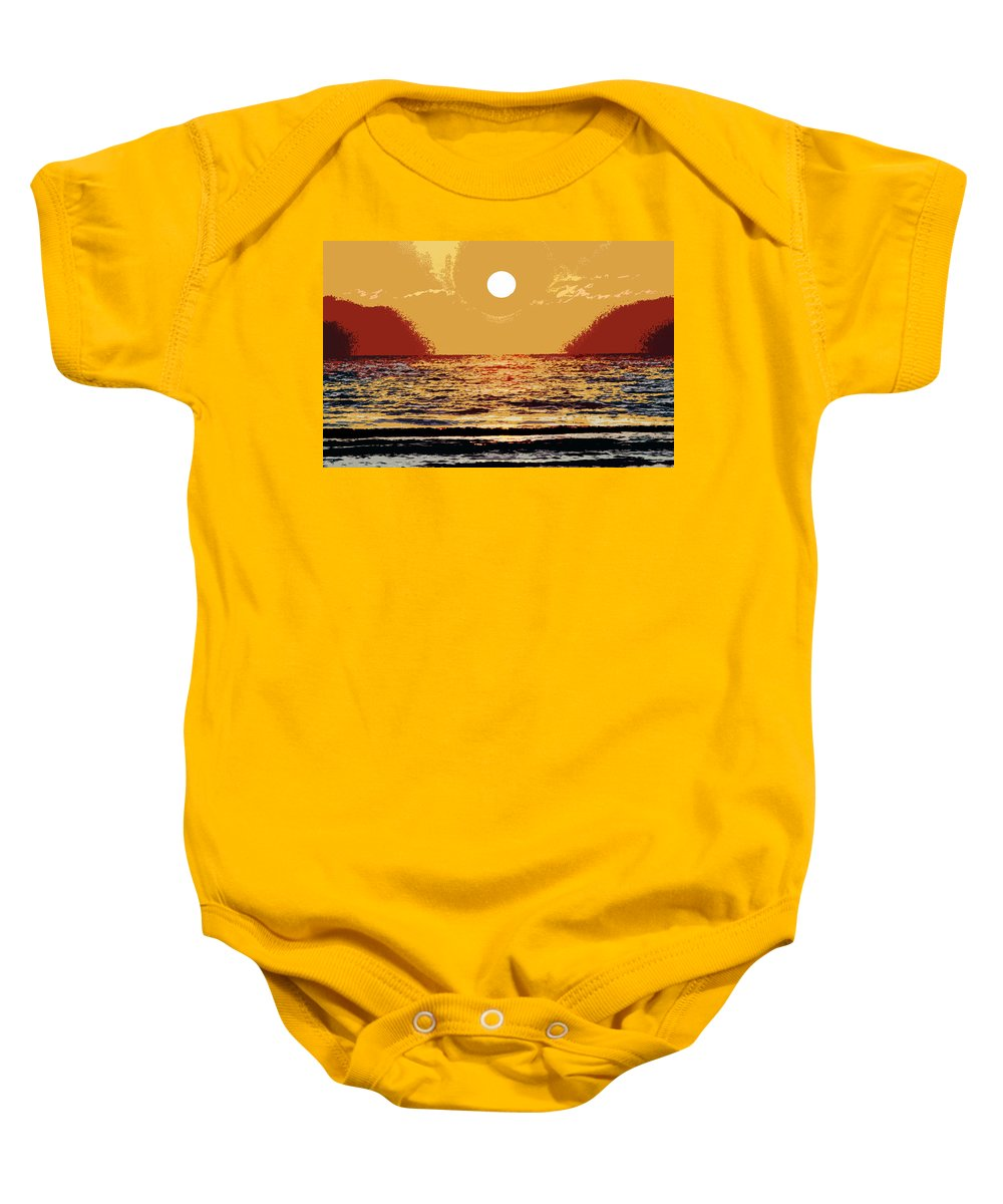 Heat Baby Onesie featuring the painting Global Warming by David Lee Thompson