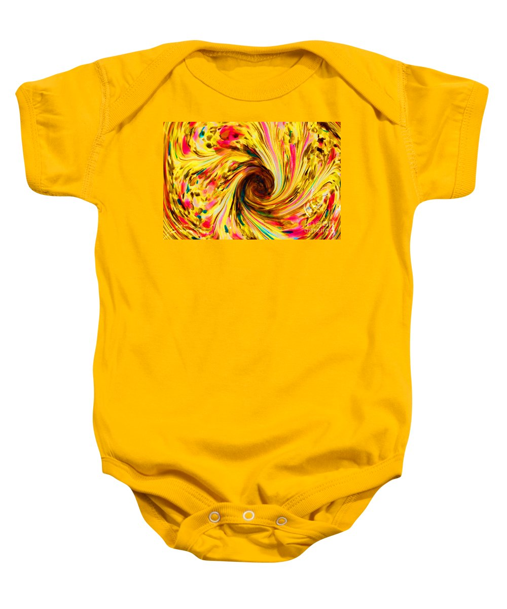Yellow Baby Onesie featuring the photograph Go Ask Alice by Debbi Granruth