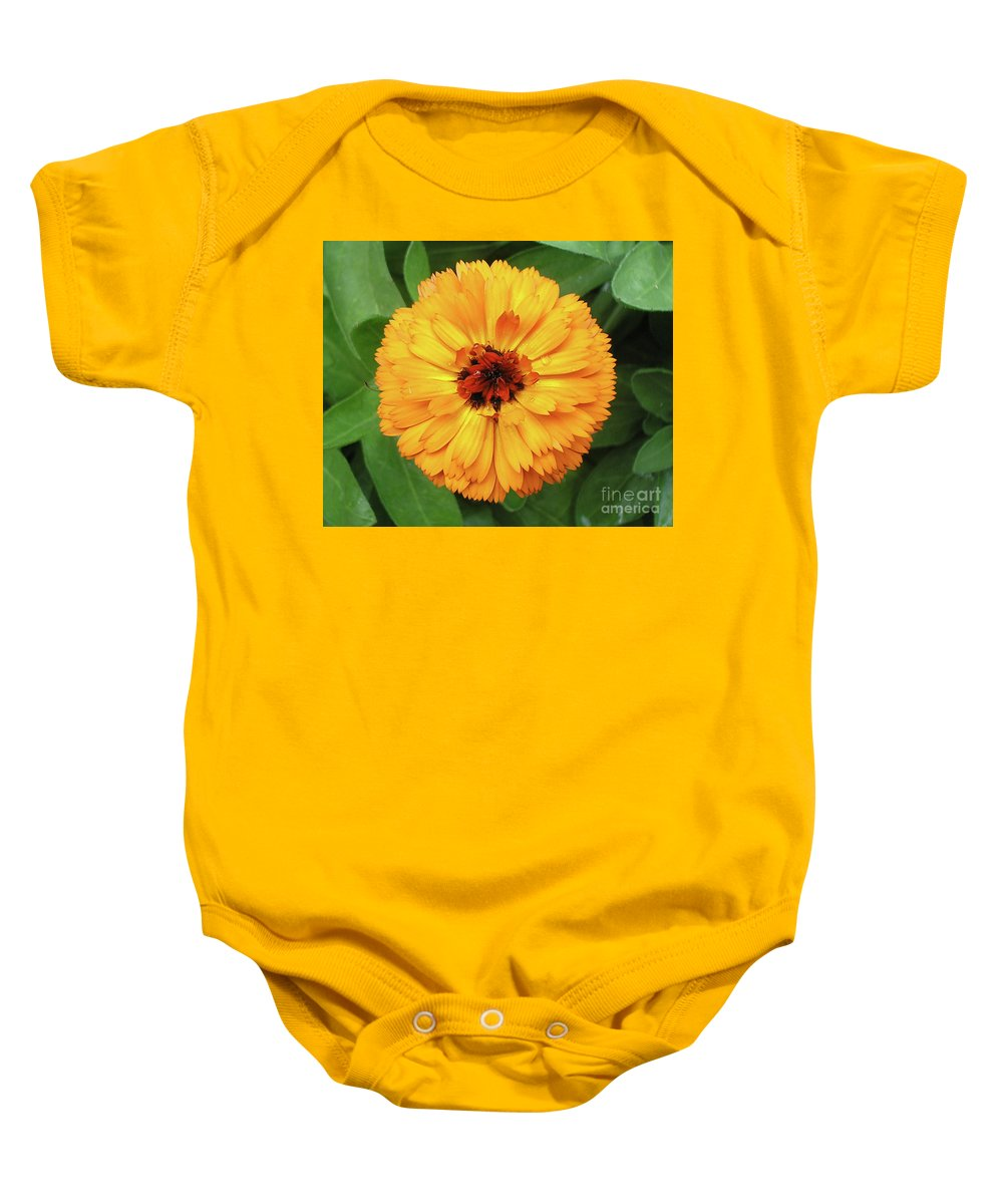 Flower Baby Onesie featuring the photograph Gold Flower by Dean Triolo