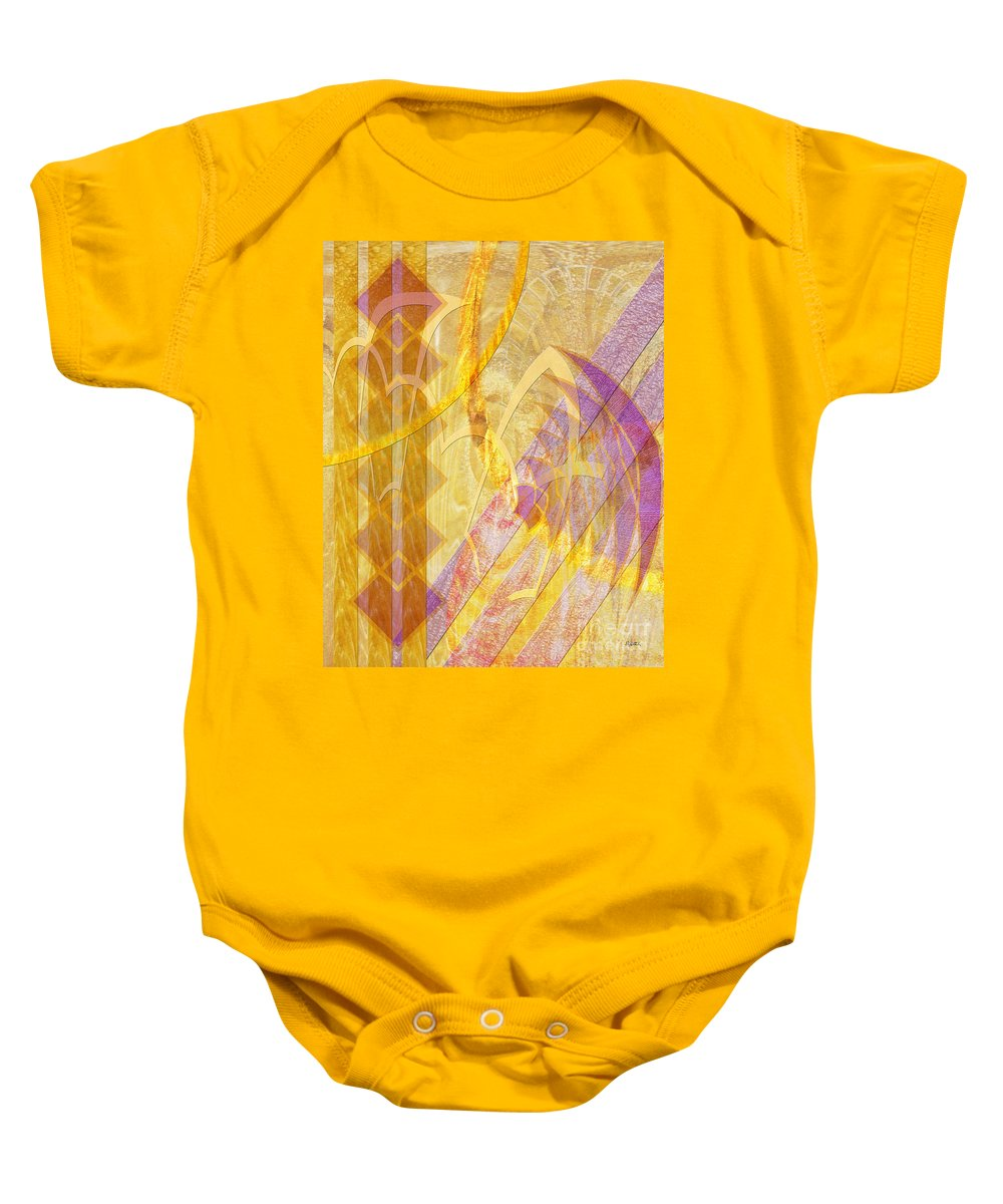 Gold Fusion Baby Onesie featuring the digital art Gold Fusion by John Beck