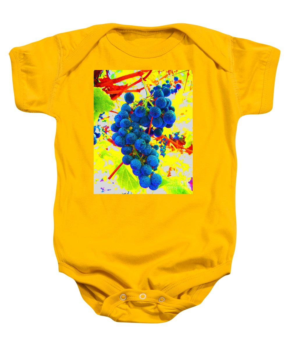 Grapes Baby Onesie featuring the photograph Grapes by Jerome Stumphauzer